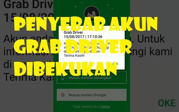 Akun Grab Dibekukan? 5 Cara Ampuh Buka Suspend Driver - Info Kerjakuu