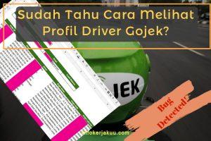 Cara Melihat Profil Driver Gojek