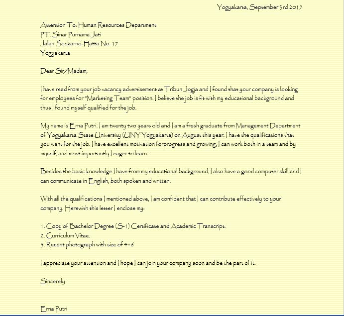 Contoh Surat Lamaran Kerja Tulis Tangan, Khusus Pencari ...