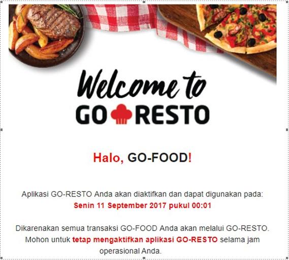 cara daftar Go Resto