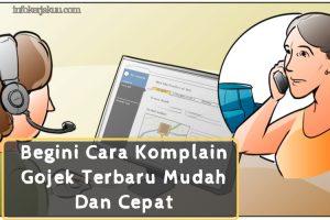 Cara Komplain Gojek Terbaru