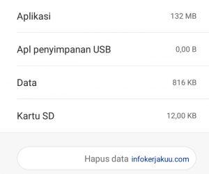 Hapus data aplikasi gojek
