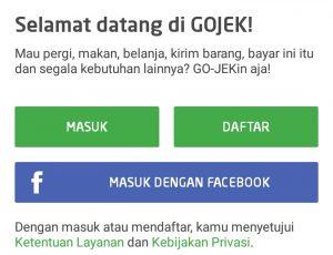 Cara daftar aplikasi gojek
