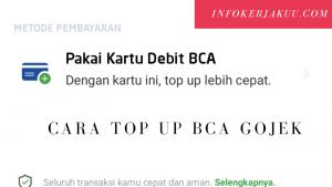 Cara top up BCA Gojek