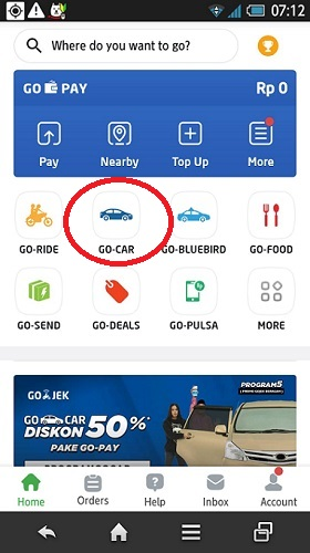 cara pesan Go-Car