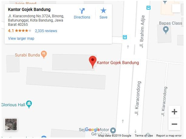 alamat kantor gojek bandung terbaru
