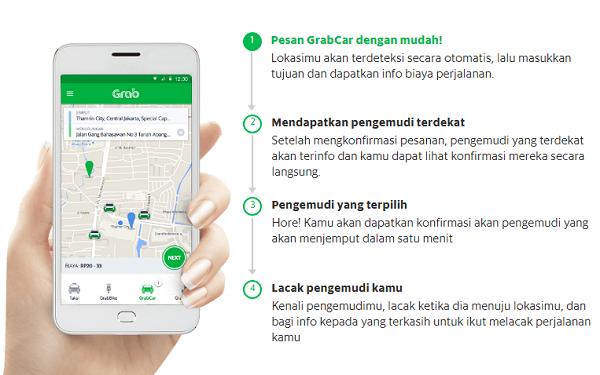 cara pesan grab mobil