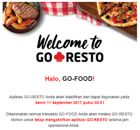 email konfirmasi go food