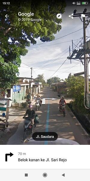 belok kiri Jalan Sarirejo