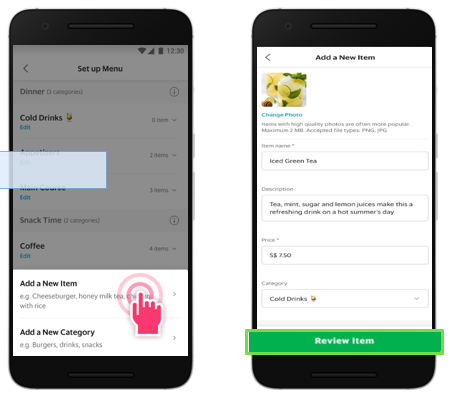 Cara Membuat Menu Baru aplikasi grabfood merchant