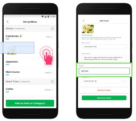 Cara Memperbaharui Menu yang Sudah Dibuat di aplikasi grabfood merchant