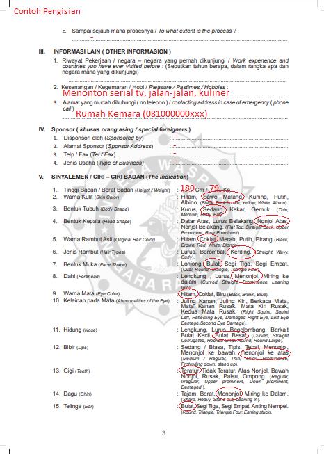 Daftar Pertanyaan SKCK