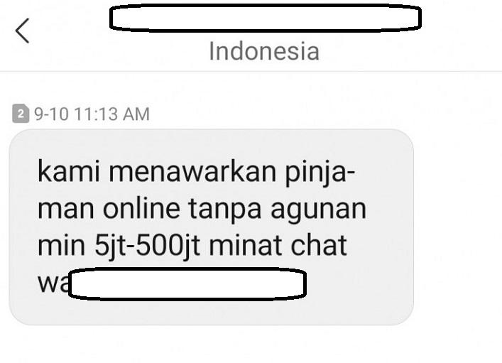 sms pinjaman online
