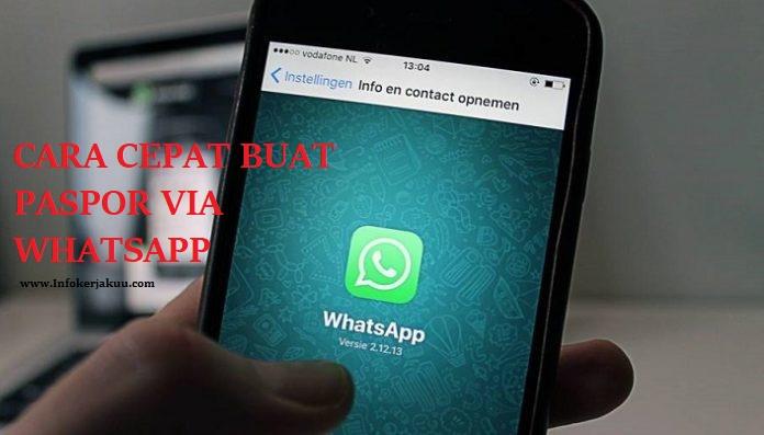 Buat Paspor Online Via WhatsApp