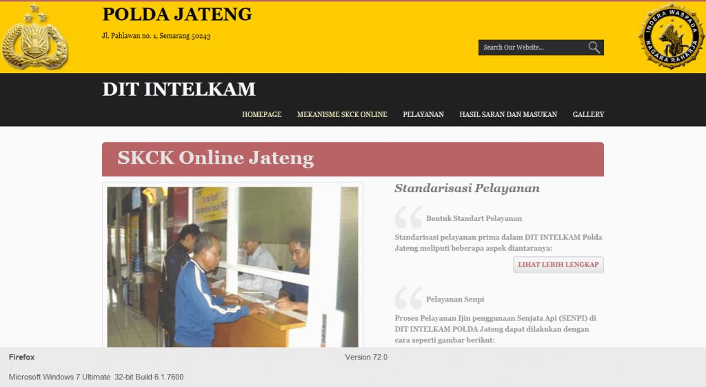 Buat SKCK Online Jateng