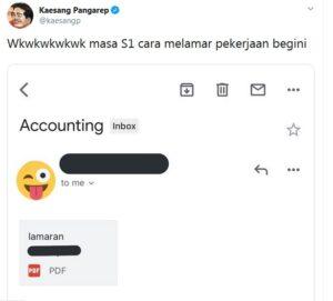 melamar pekerjaan lewat email