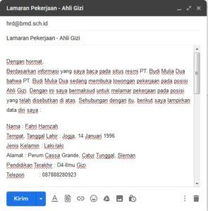 cara mengirim kerja via email