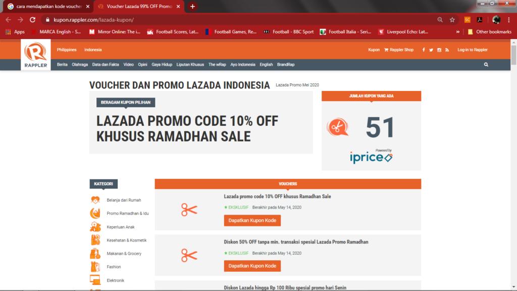 halaman khusus lazada pada situs resmi rappler