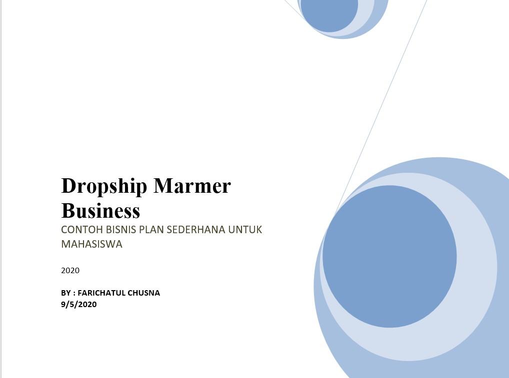 Contoh Business Plan Untuk Referensi Bisnis Plan Pdf Doc