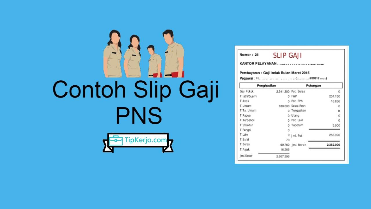 Contoh Slip Gaji PNS