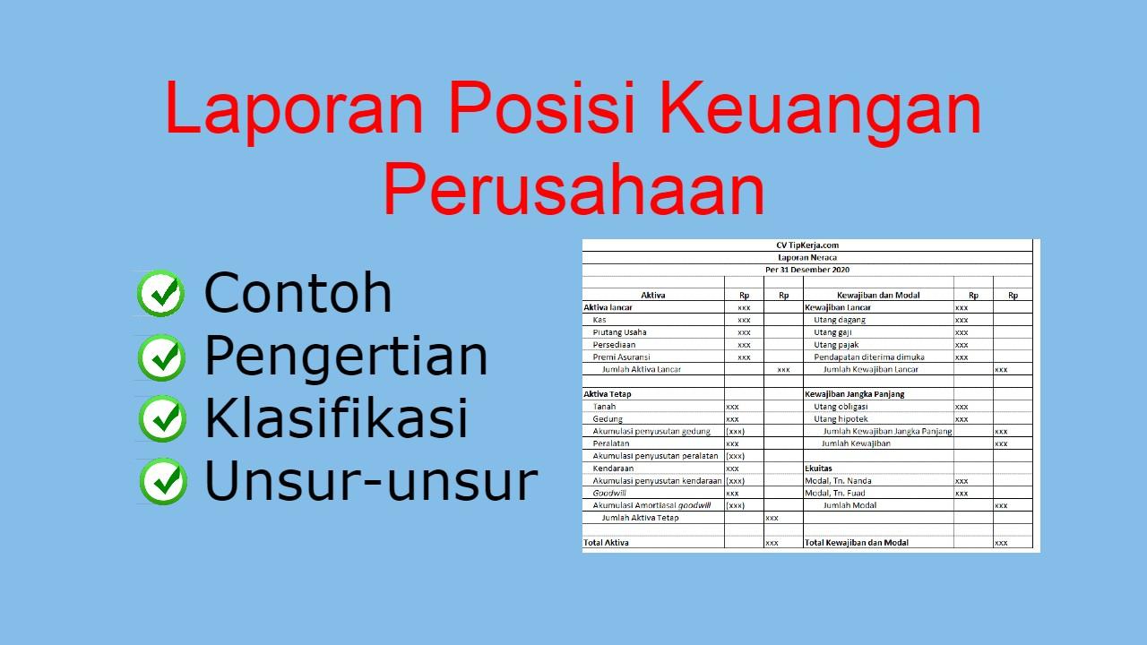 Laporan Posisi Keuangan Perusahaan